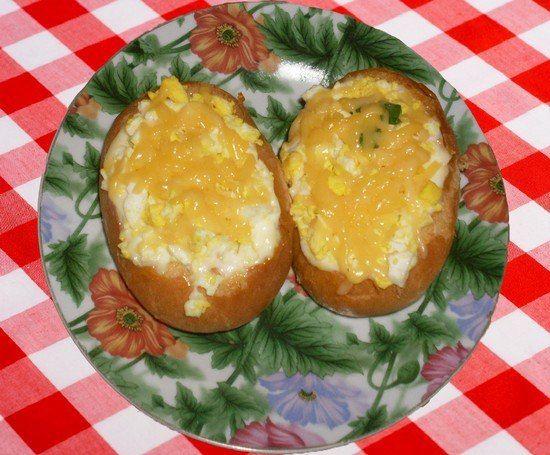 Фаршированные булочки с яйцами и колбасой   Школа шеф-повара