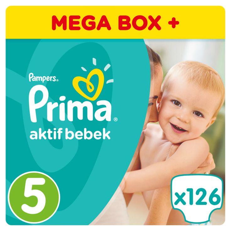 Prima Aktif Bebek Bezi 5 Beden Junior Mega Box 126 Adet