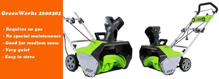 GreenWorks 2600202 electric snow blower good for medium snow