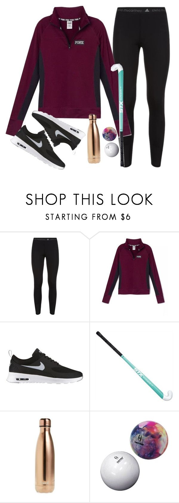 """Field Hockey Season is over"" by haileymartin12 ❤ liked on Polyvore featuring adidas, Victoria's Secret, NIKE and S'well"