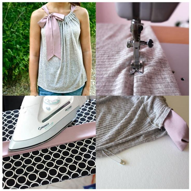 Buena idea para reciclar poleras...: Jardine, Diy Tank, Diy Shirt, Diy Una, Dream, Of The, Jardine De, Una Original, Diy Ribbons