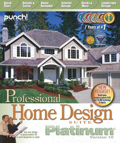 Professional Home Design Platinum V10 Punch Software Amazon
