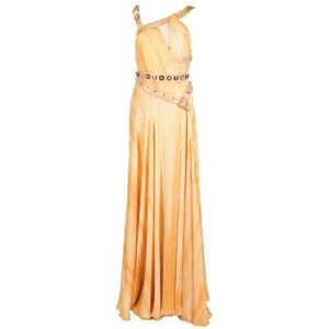 Preowned Versace Embellished Silk Gown