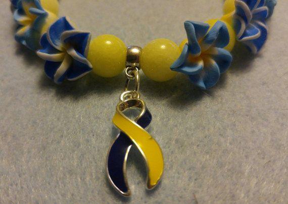 Down Syndrome Awareness Ribbon Bracelet