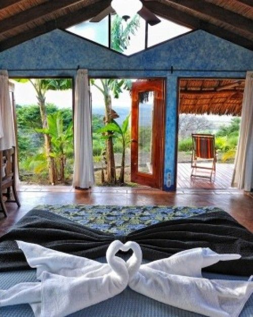 Hacienda Puerta del Cielo  (  Masatepe, Nicaragua )  Casitas have private decks overlooking the national park, plus romantic outdoor showers. #Jetsetter