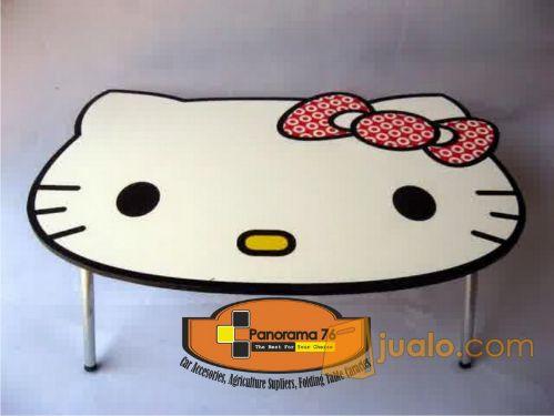 Meja Lipat Karakter Hello Kitty Lucu untuk anak-anak Retail/Grosir Meja Lipat Karakter Lucu untuk anak-anak ,ringan d