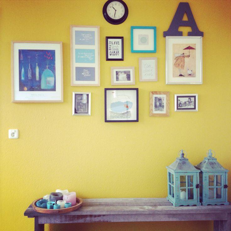 Gele muur