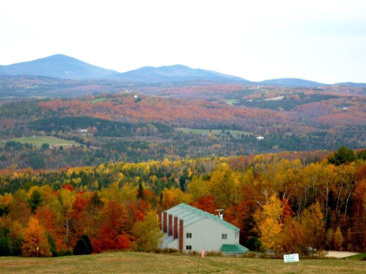 Northeast Kingdom Vermont fall foliage views from Burke Mountain. http://www.visitingnewengland.com/scenesofnewengland80.html