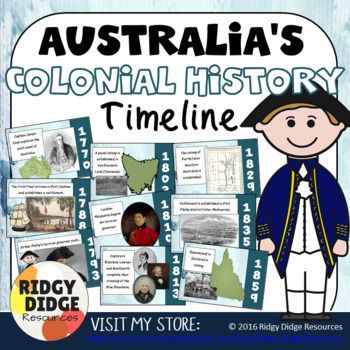 Australia's Colonial History Timeline - the development of colonies in Australia and the arrival of convicts to Australia.
