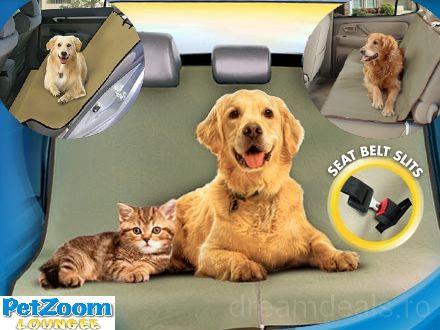 Calatoriile cu masina alaturi de animalutul tau de companie vor fi mai placute acum. 59% reducere pentru Husa auto Petzoom Loungee Waterproof! - Dream Deals