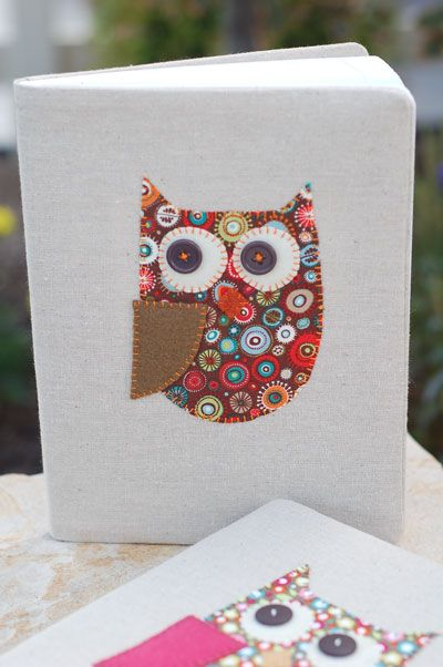 DIY owl notebook