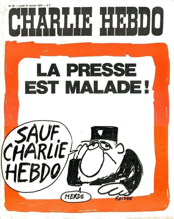 Charlie Hebdo - # 63 - 31 Janvier 1972 - Couverture : Reiser