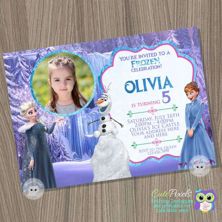 Olaf's Frozen Adventure Invitation, Disney Frozen Invitation, Olaf Invitation, Frozen Birthday, Frozen Olaf, Frozen Birthday Invitation by CutePixels on Etsy