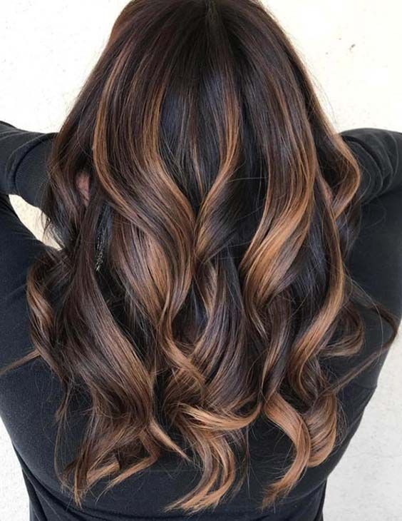 40 Perfect Brunette Highlights Hair Color Ideas For 2018 Angelic