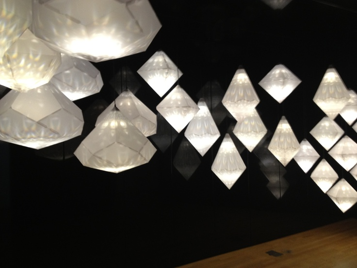 This the geometric shapes and the light -Swarovski exhibition