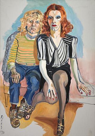 """Alice Neel, """"Jackie Curtis and Ritta Red"""" 1970."""