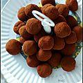 Truffe au chocolat noir coeur surprise crousti-fondant ... mes confiseries de noël