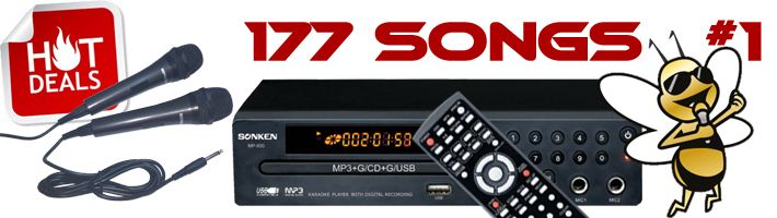 Sonken MP600 Hot Deal # 1 with 177 Songs Included!