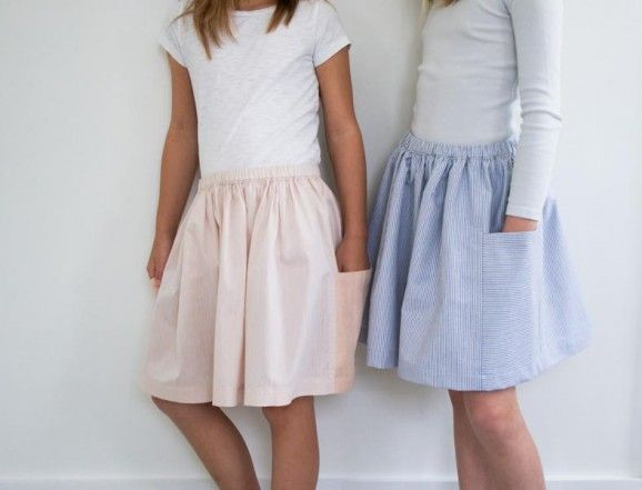 Gathered Skirt for All Ages | free pattern from The Purl Bee