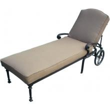 Darlee Ten Star Cast Aluminum Patio Chaise Lounge - Antique Bronze : BBQ Guys-x2