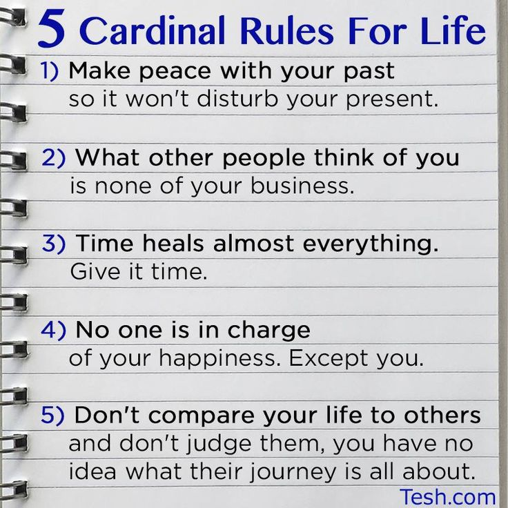 5 rules to live by.