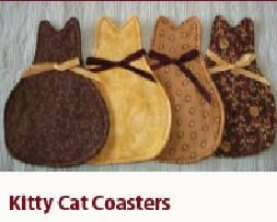 Cat Haven Craft House: SHARING A KITTY COASTER PATTERN