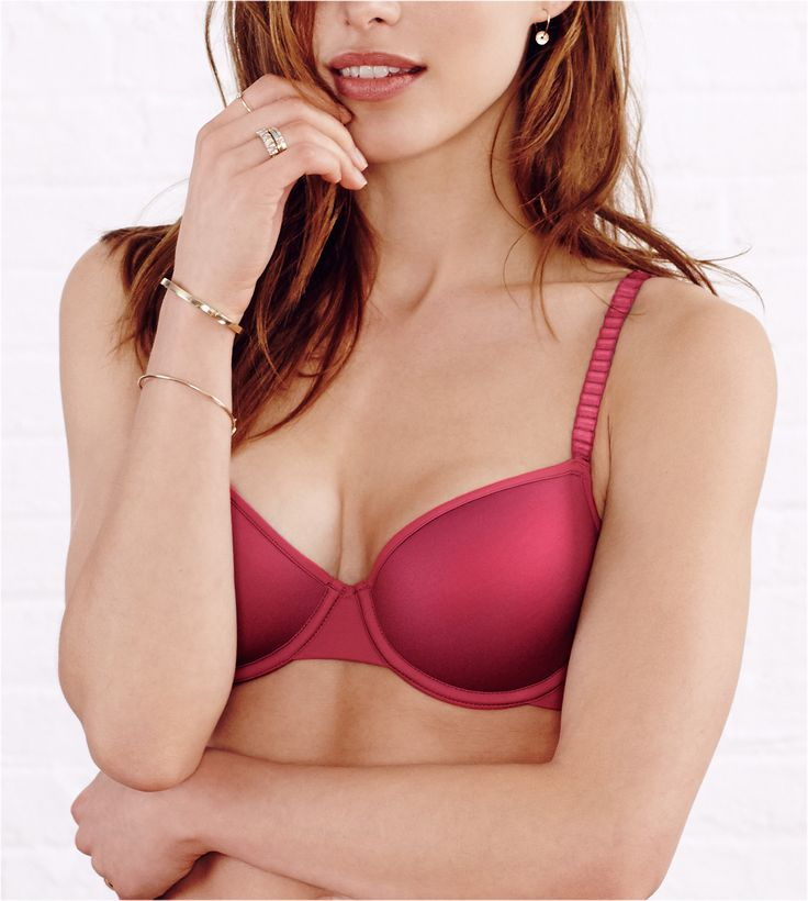 Our best-selling 24/7 memory foam T-shirt bra is so comfortable you may forget it's on! Available in A-F (DDD) cups, including our signature 1/2 sizes. Featured in InStyle magazine.