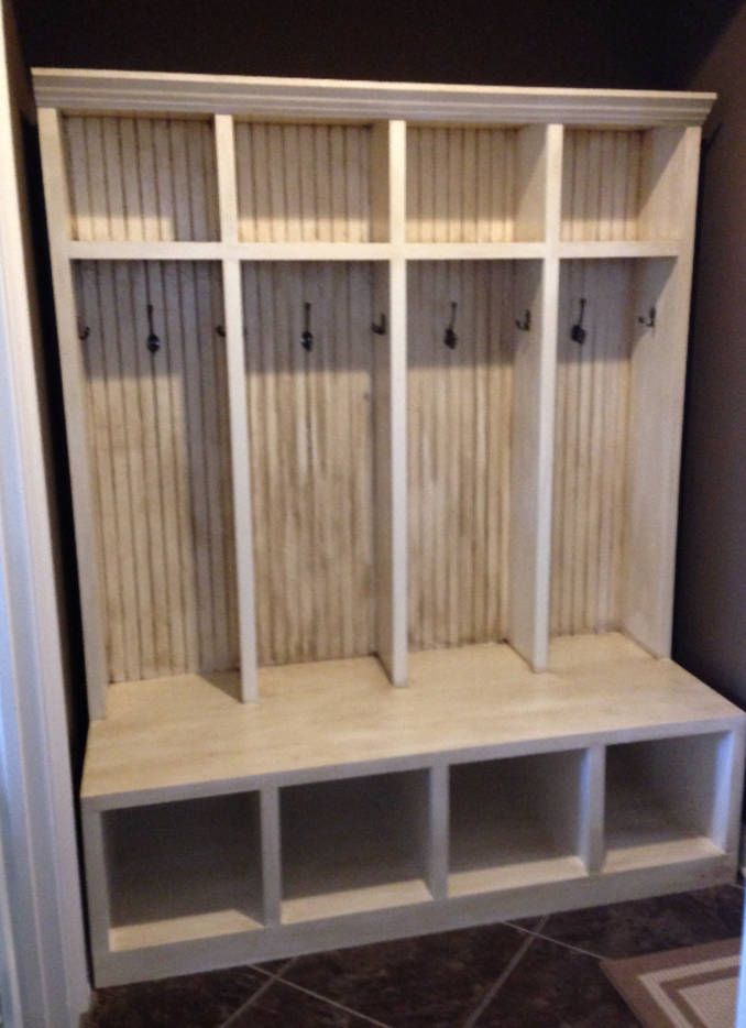 Mudroom Locker Entryway Hall Tree Storage Cabinet