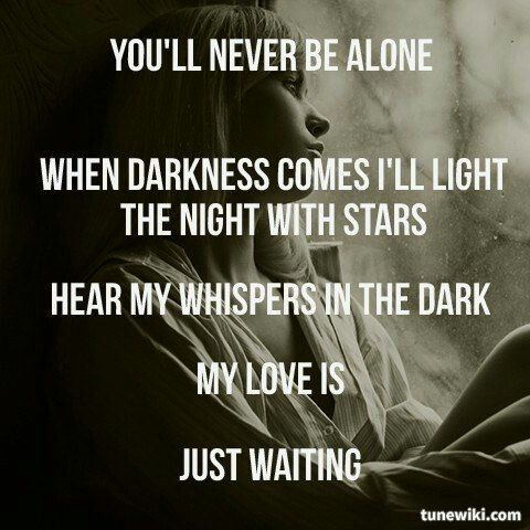Whispers in the dark lyrics