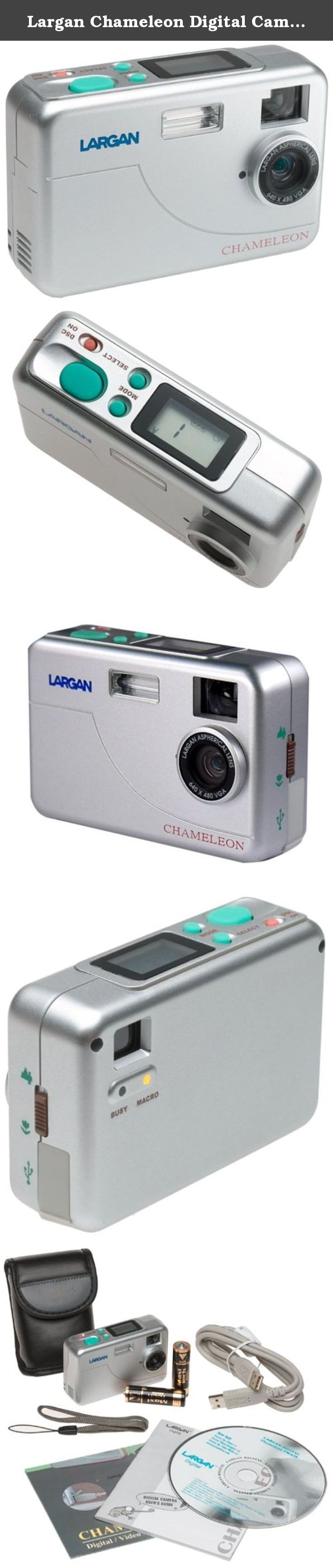 Largan Chameleon Digital Camera with Mr. Photo Software / Updates. Size of a credit card. Capture and edit photos (8 mb memory) with included Arcsoft Photo software. Macro mode for taking extreme close ups. All accessories included for a complete digital camera kit. Videoconference up to 30 frames per second.