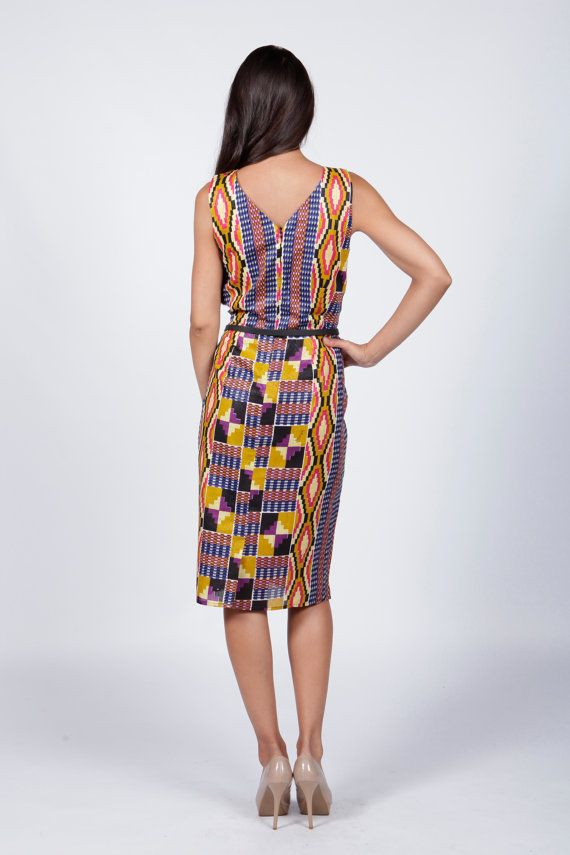 Print dress African Print Dress by COLUFashion on Etsy