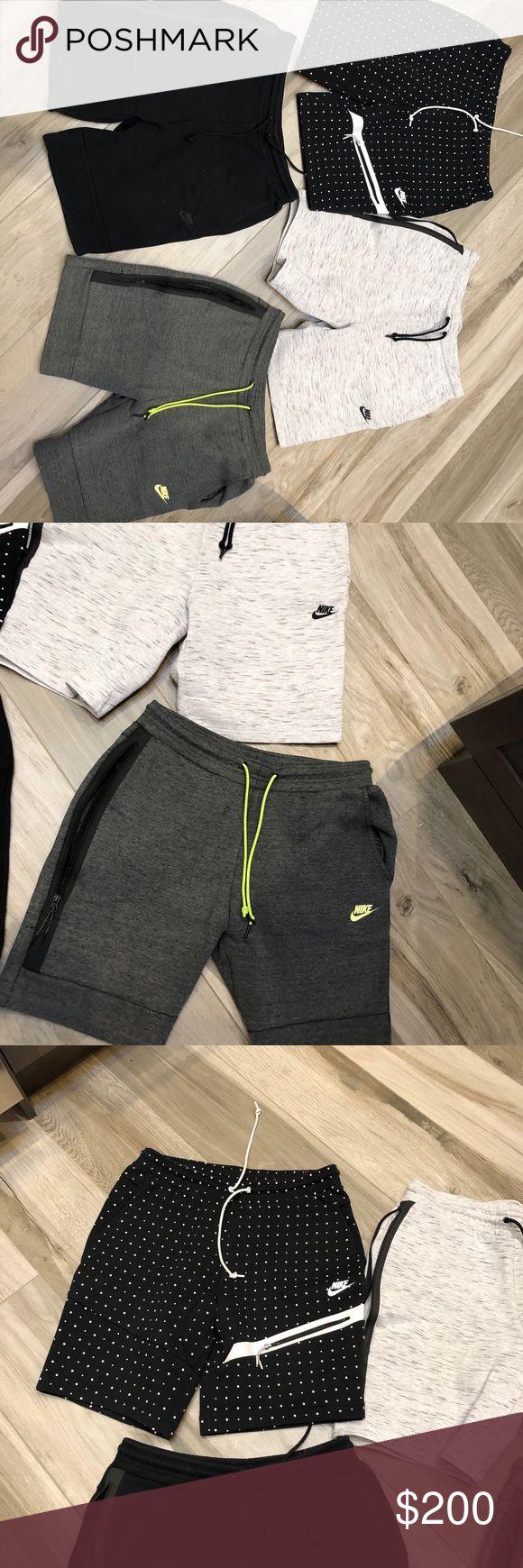Nike Fleece Tech !! Set of 4 Nike fleece tech shorts size large. Worn but in good condition ! Nike Shorts
