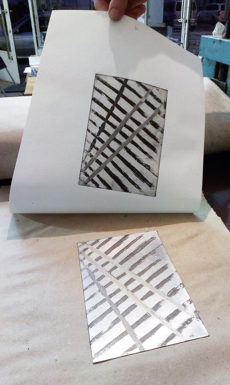 Psit-bite aquatint, 2016, printing