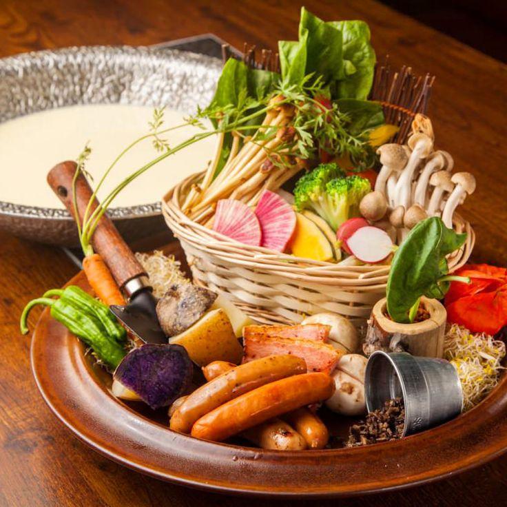 ベジ白湯豆乳鍋