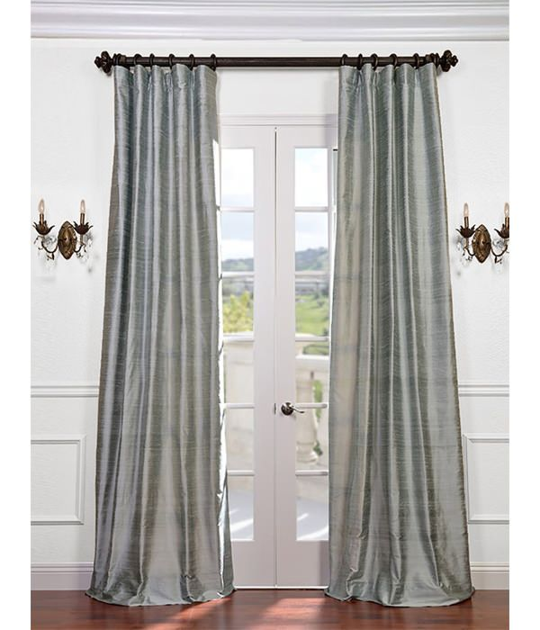 Buy Shoreline Textured Dupioni Silk Curtains Drapes At Low Price Maria Ali Design Project