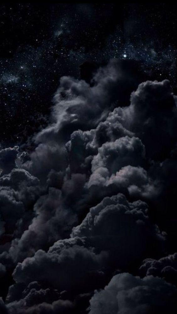 huawei Hintergrundbild schwarze Nächte Wolken Sterne # Tapete #Hintergrundbild #huawei #Näch…
