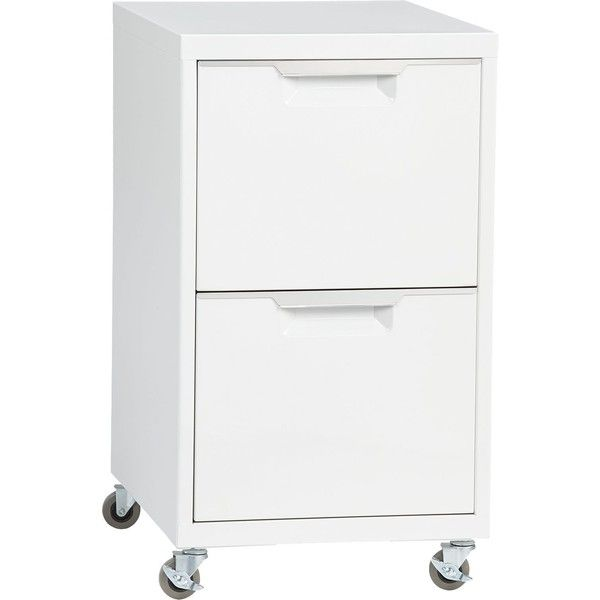 CB2 Tps White 2-Drawer Filing Cabinet ($179) ❤ liked on Polyvore featuring home, furniture, storage & shelves, file cabinets, cb2, locking file cabinet, file storage cabinets and drawer file cabinet