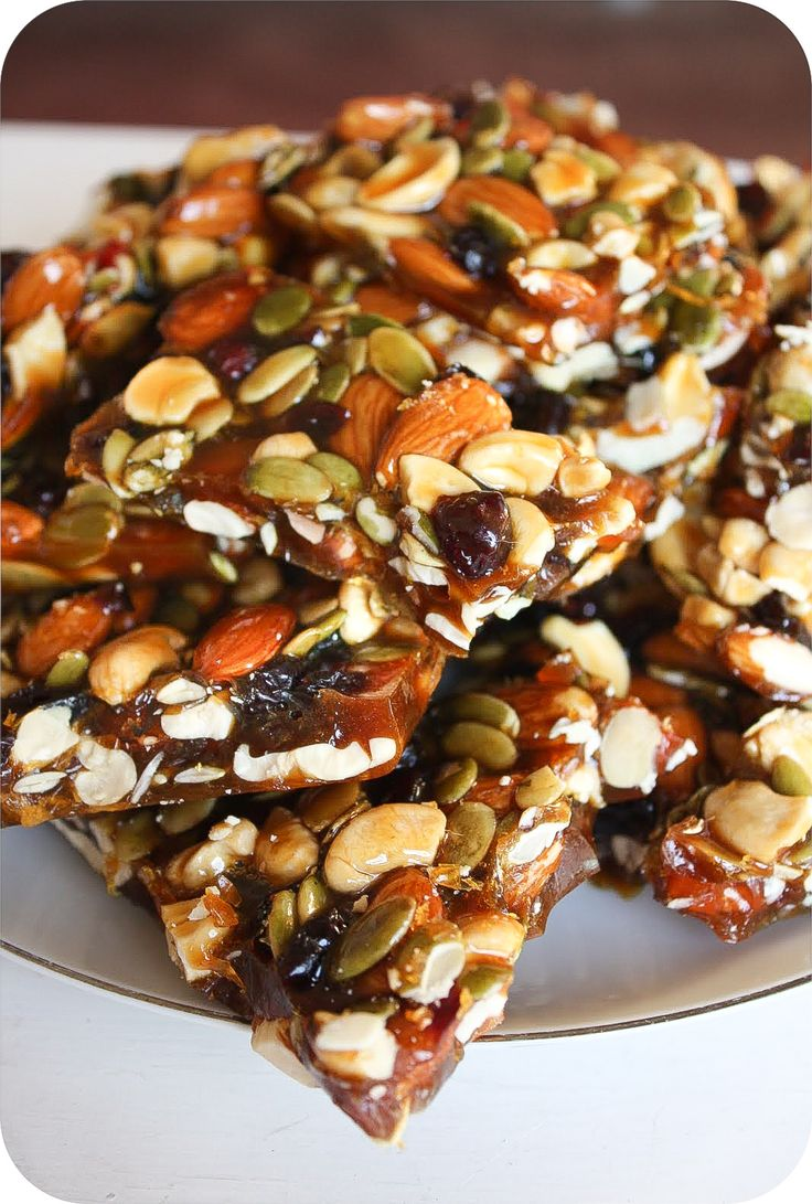 "Autumn Brittle. Made it and love it. I would suggest smoothing out to 1/2"" deep when pouring out of pan. Otherwise it is just too difficult to bite into. Make sure it's stored in air-tight baggies or jars with a waxed or parchment paper separators between each layer. I would score this recipe a B+."