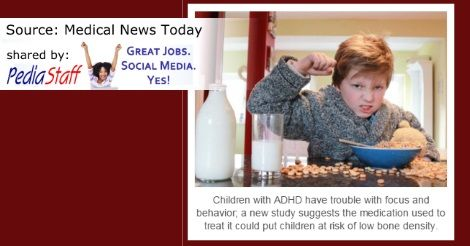 ADHD Medication and Low Bone Density: Are Kids at Risk? - pinned by @PediaStaff – Please Visit  ht.ly/63sNt for all our pediatric therapy pins