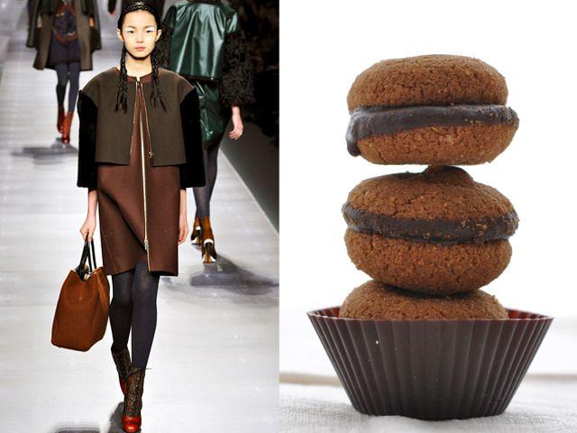 Fendi fw 2012-13 / Chocolate Baci di Dama Cookies (Lady's Kisses)