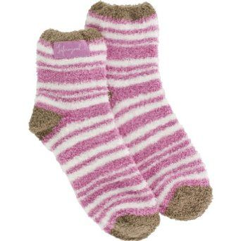 Life is good. Womens Lightweight Snuggle Sock - Stripes - Peony Pink Life Is Good. $5.97