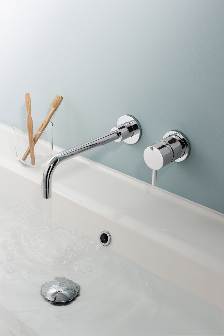 Kai Lever Wall Mounted Bathroom Basin 2 Hole Tap Set From