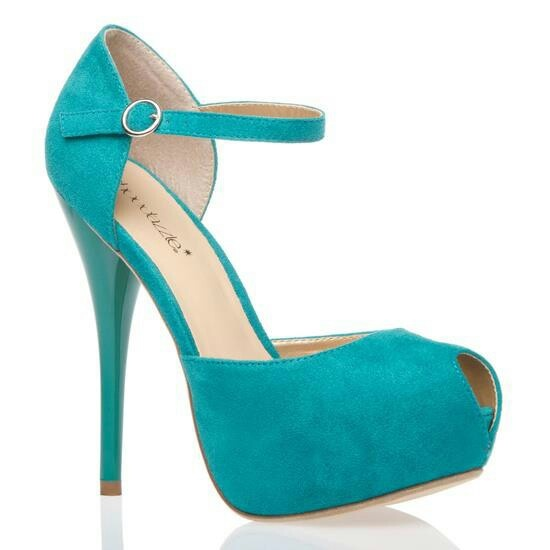 Turquoise Color Shoes