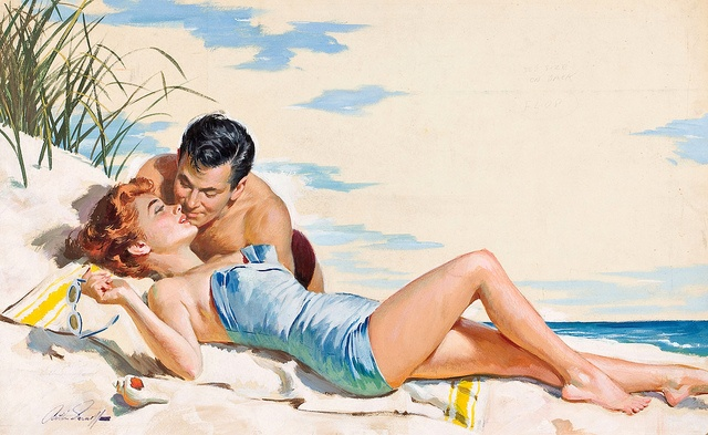 Romance at the beach ~ Arthur Sarnoff