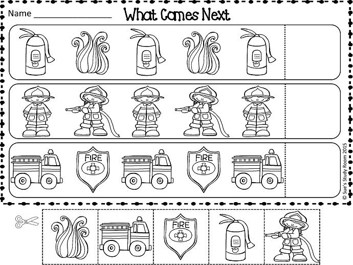Worksheets Sequencing Skills Worksheets Preschool 1000 ideas about fire safety on pinterest week this packet is perfect for the little learners to practice their sequencing skill by completing patterns students can also th