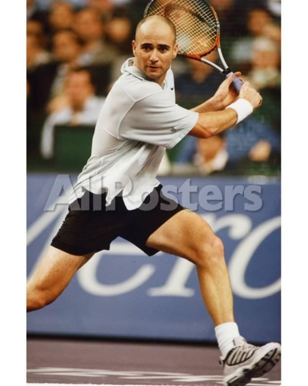Andre Agassi Sports Photo 20 X 25 Cm Andre Agassi Sports Hero Famous Sports