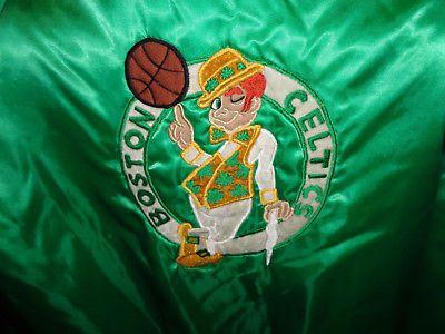 Vintage Boston Celtics Basketball 50 Anniversary Patch Jacket XL Very RARE 1990s please retweet