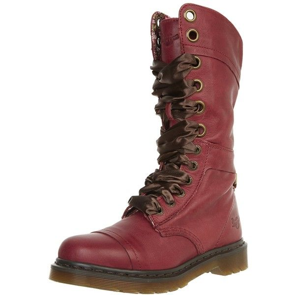 Dr. Martens Women's Triumph 1914 W Boot (£140) ❤ liked on Polyvore featuring shoes, boots, mid calf boots, wide fit shoes, dr martens footwear, wide boots and wide shoes