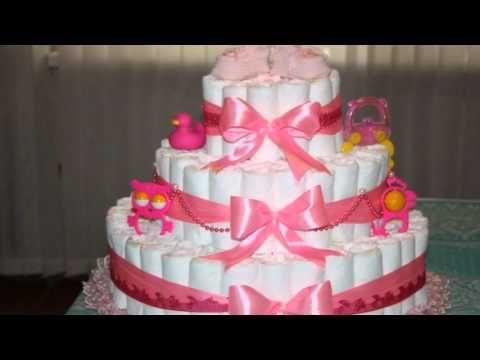 Красивые торты из памперсов, подгузников для девочек и мальчиков