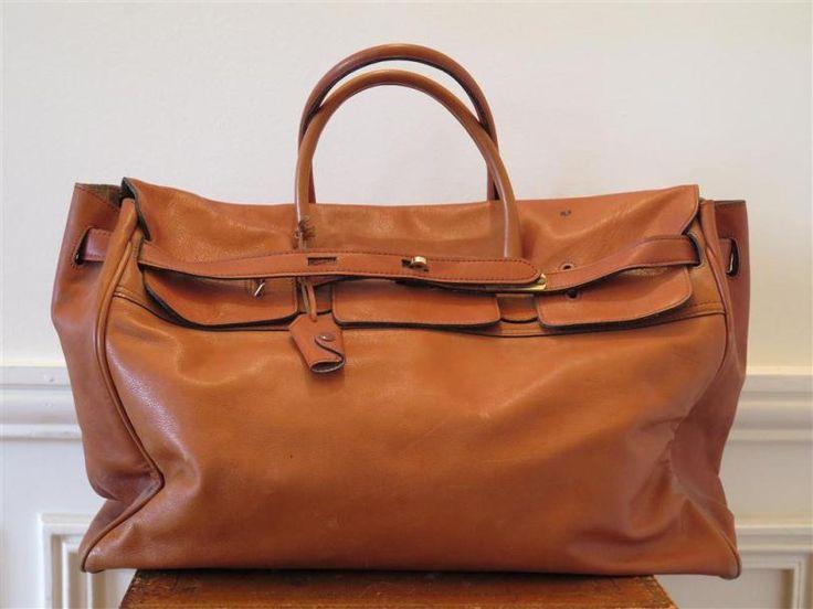 Grand sac de voyage cuir souple couleur gold - Art-Valorem - 31/01/2015